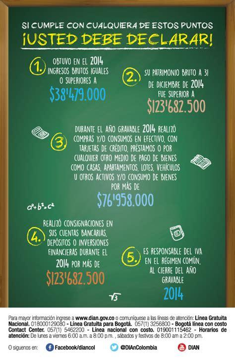 montos personas naturales para declarar renta base ingresos 2015 obligados declarar renta renta 2016