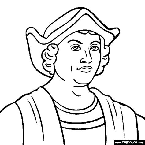 Ferdinand Magellan Coloring Page Christopher Columbus Christopher Columbus Coloring Pages