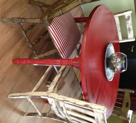 Mustard Seed Home Decor by Distressed Round Country Kitchen Table Vintage Home