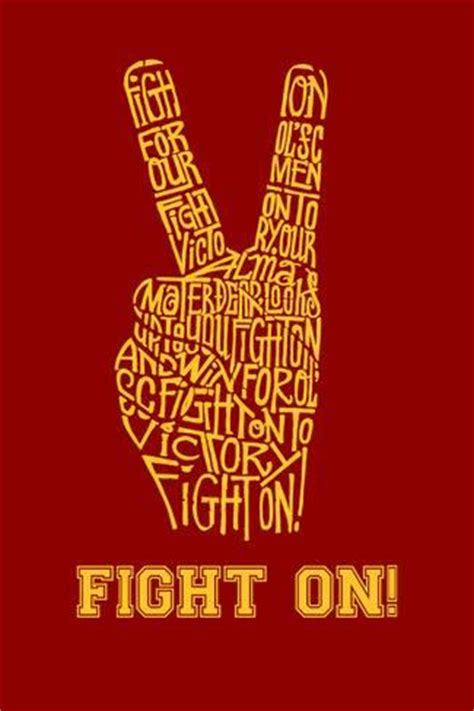 Usc Search Fight On Created Using The Lyrics To The Usc Fight Song Fight On Posters At