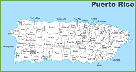 printable puerto rico road map map of puerto rico map