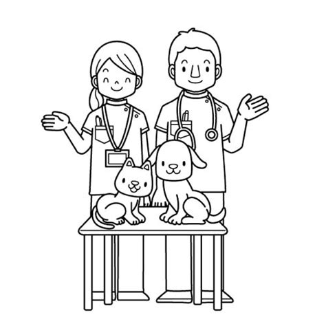 Veterinarian Coloring Pages veterinarian clinic coloring pages for byn