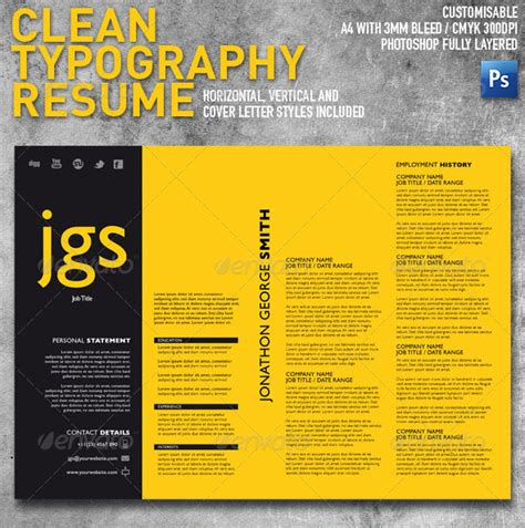 Free Typographic Resume Template 15 Photoshop Indesign Cv Resume Templates Photoshop