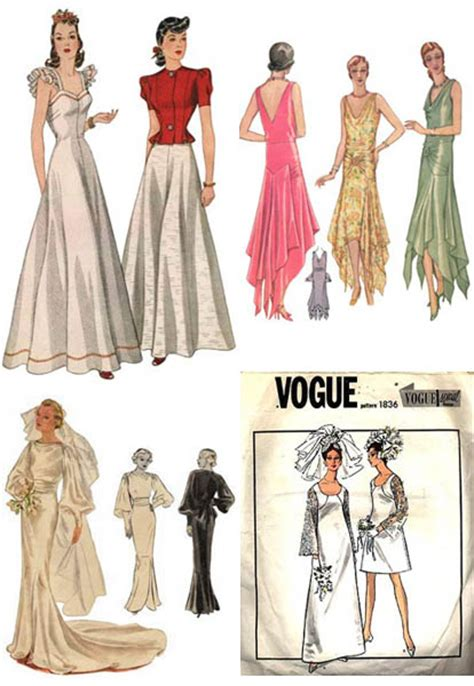 Top row left to right 1940s dress pattern from vintage pattern