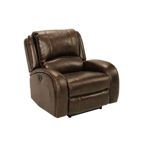 jeromes recliners william lay flat power recliner in dark brown jerome s