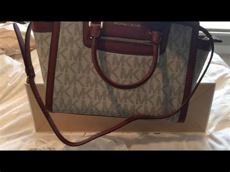 michael kors selma monogram tote bag unboxing youtube