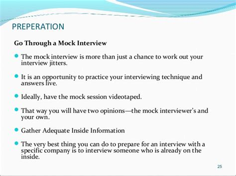 mock layout meaning interviews