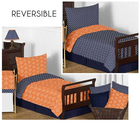navy and orange bedding arrow orange navy toddler bedding set by sweet jojo