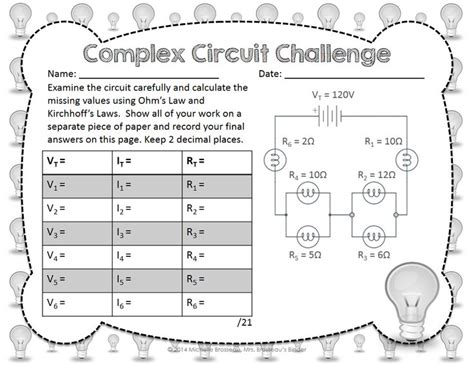 resistors in series and parallel circuits lab answers complex circuit challenge ohm s kirchhoff s in mixed circuits circuits physics
