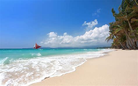 yacht in tagalog tropical sailboats beach boracay island philippines