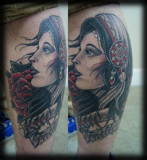 gypsy lady tattoo designs neo traditional design tattooshunter