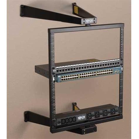 tripp lite 12u wall mount 2 post open frame
