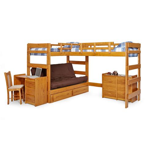 loft bed with futon master wcm342 jpg