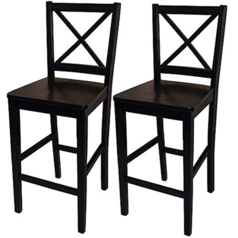 Walmart Counter Stools by Virginia Cross Back Counter Stools 24 Quot Set Of 2 Black