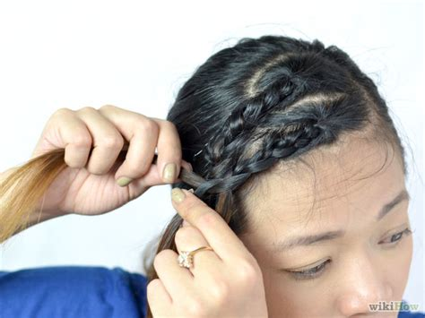 french braid bangs step by step step by step bang twist 3 ways to braid your bangs wikihow