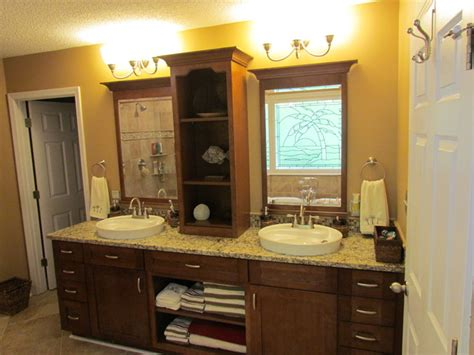 kraftmaid sonata cherry harris traditional bathroom charlotte  lowes  indian land sc