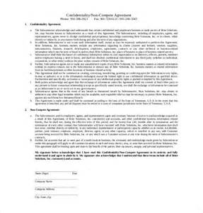 Employee Confidentiality Agreement Template Free 10 non compete agreement templates free sample example