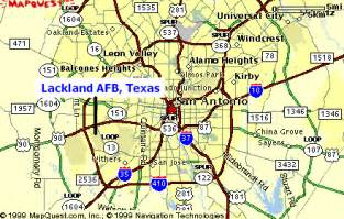 san antonio lackland map