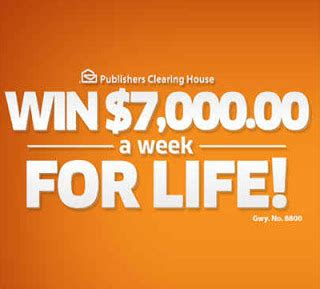 Publishers Clearing House Win 5000 A Week For Life - publishers clearing house win 7000 a week for life autos