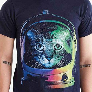 design by humans urban outfitters design by humans astronaut cat tee from urban outfitters