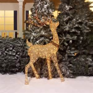 holiday time 60 quot chagne turn head buck light sculpture
