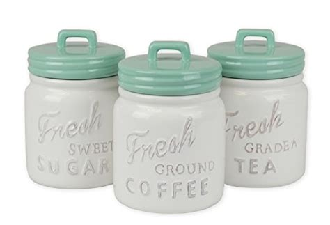 3 piece vintage style kitchen canisters ceramic containers dii everyday classic kitchen design 3 piece ceramic