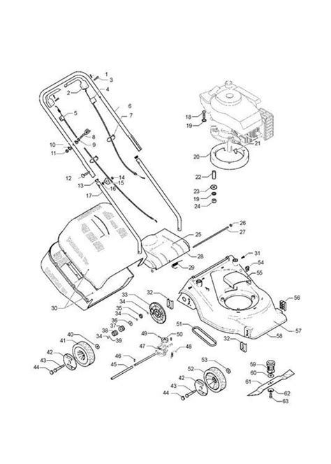 mcculloch parts diagram mcculloch m40 450cdp 965969501 lawnmower product complete spare parts diagram