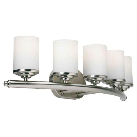 Talista Oralee 5 Light Brushed Nickel Bath Vanity Light Home Depot Bathroom Vanity Lights