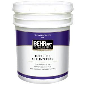 home depot 5 gallon interior paint behr premium plus 5 gal flat interior ceiling paint 55805