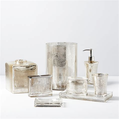 mercury glass bathroom accessories kassatex vizcaya bath accessories bloomingdale s