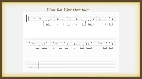 strumming pattern wish you were here chords dave s guitar instruction