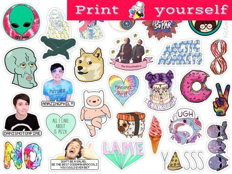 printable stickers tumblr set 126 mockup printable tumblr stickers stickers set of