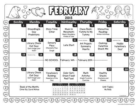 calendar template for february 2015 best photos of preschool calendar november 2015 november