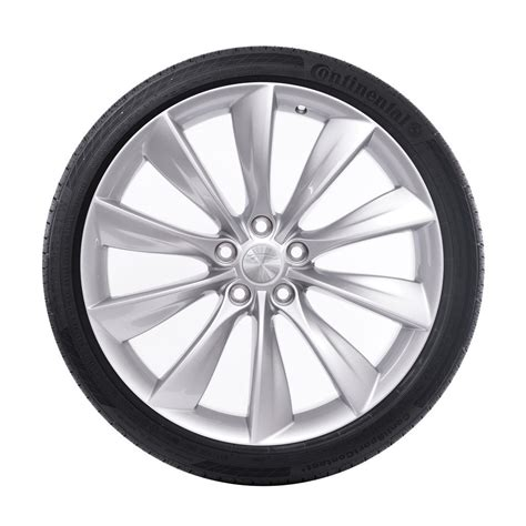 with wheels tesla 21 quot turbine wheel and tire package silver