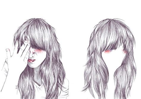 how to draw bangs image gallery drawing bangs