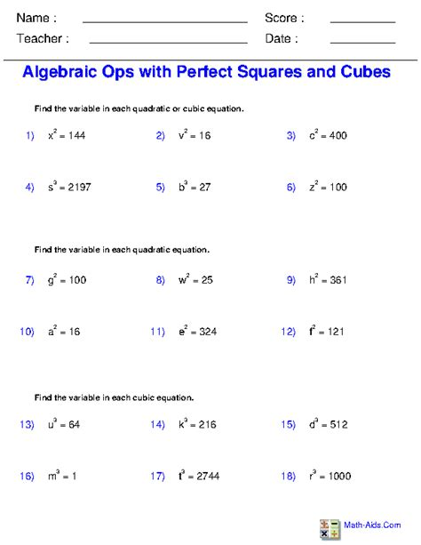 Simplifying Equations Worksheets by Solving Radical Equations Worksheets Ani Exponents