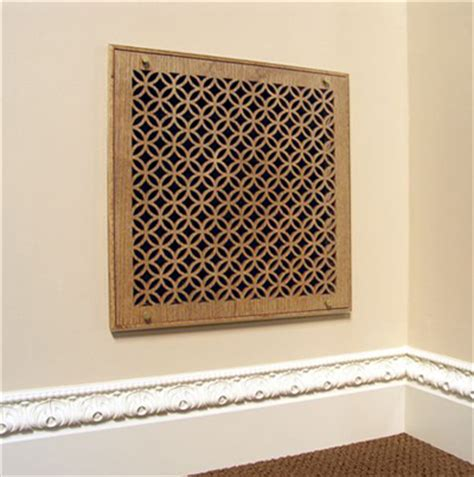 Decorative Return Air Grill by Wood Filter Grille Assembly