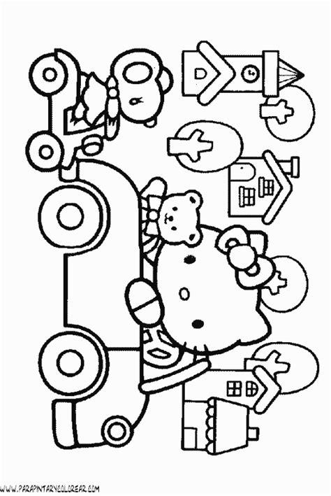 imagenes para colorear kitty dibujos para colorear de hello kitty 073