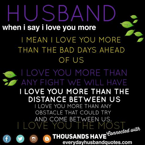 Enjoy More Than by Husband I You Quote Husband When I Say I You