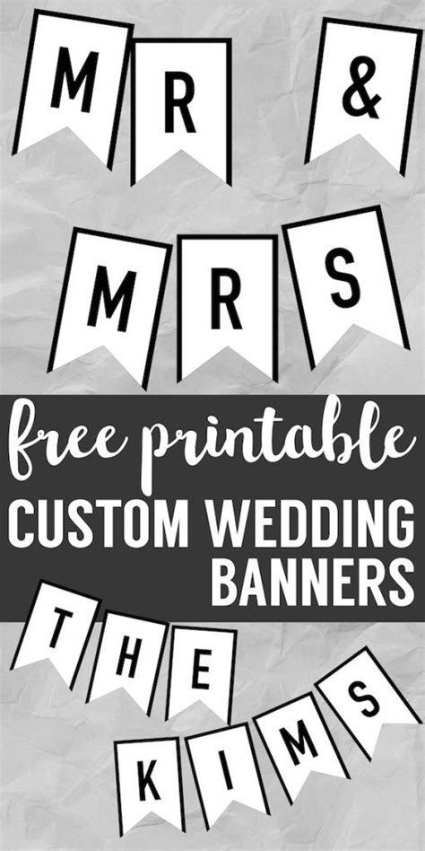 banner templates  printable abc letters diy wedding