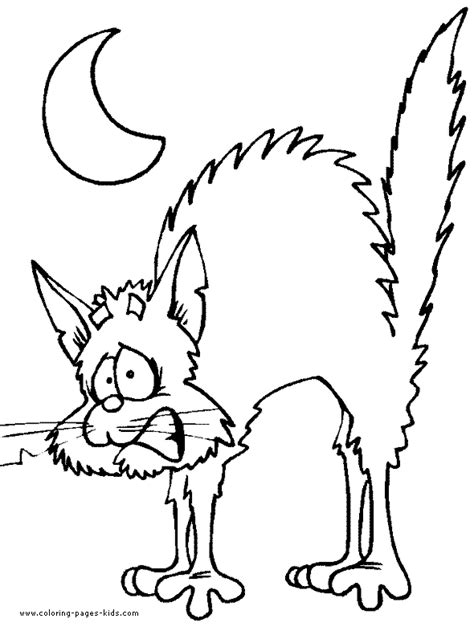 scary cats coloring pages scary cat color page free printable coloring sheets for kids