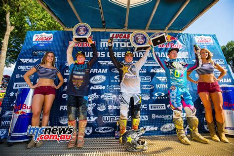 lucas ama motocross roczen and webb win titles at budds creek mcnews com au
