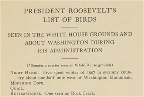 the leash white house protection volume 1 books president theodore roosevelt s bird checklist for the