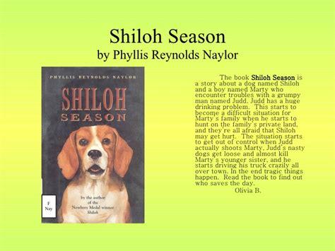 Shiloh Season Book Report by Shiloh Book Report