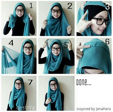 Cara Memakai Jilbab Segi Empat Ala April cara memakai jilbab segi empat cepat ala wanita karir kumpulan contoh kreasi