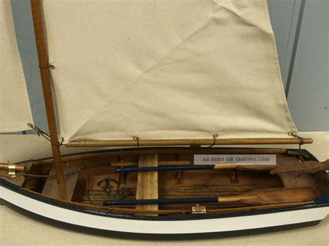 Plastik Segel 11 Cm deko fischerboot segelboot aus holz mit segel ca 45 x