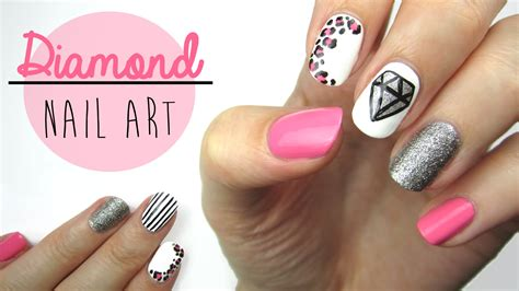 easy nail art cutepolish diamond nail art youtube