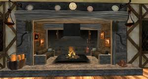 km inglenook fireplace with 57 animations rezzing