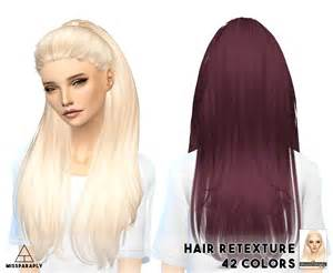 sims 4 cc hair my sims 4 blog hair retexture and headband by missparaply