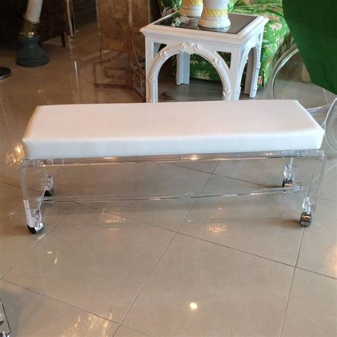 leather end of bed bench lucite waterfall end of bed bench seat chair white leather